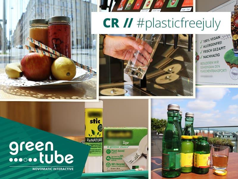 #PlasticFreeJuly at Greentube – all year round!