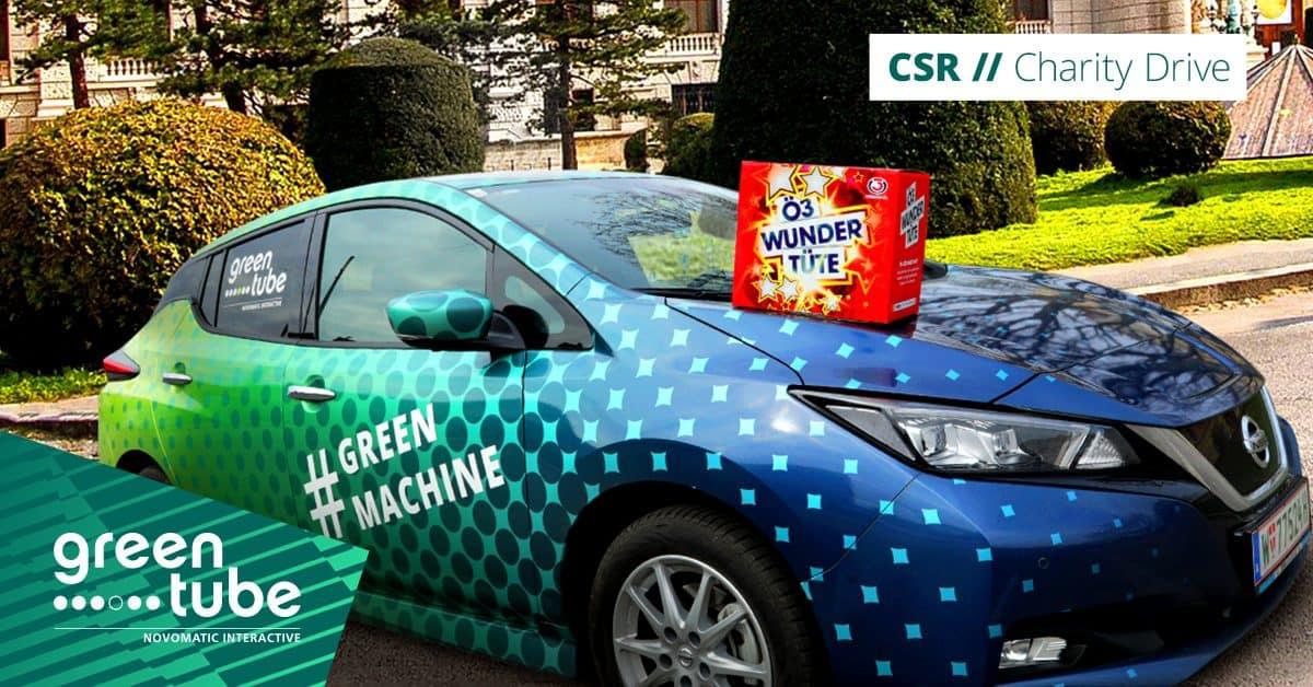 #GreenMachine goes mobile for the Ö3 Wundertüte initiative!
