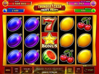 THUNDER CASH™ – Fruity Fruity