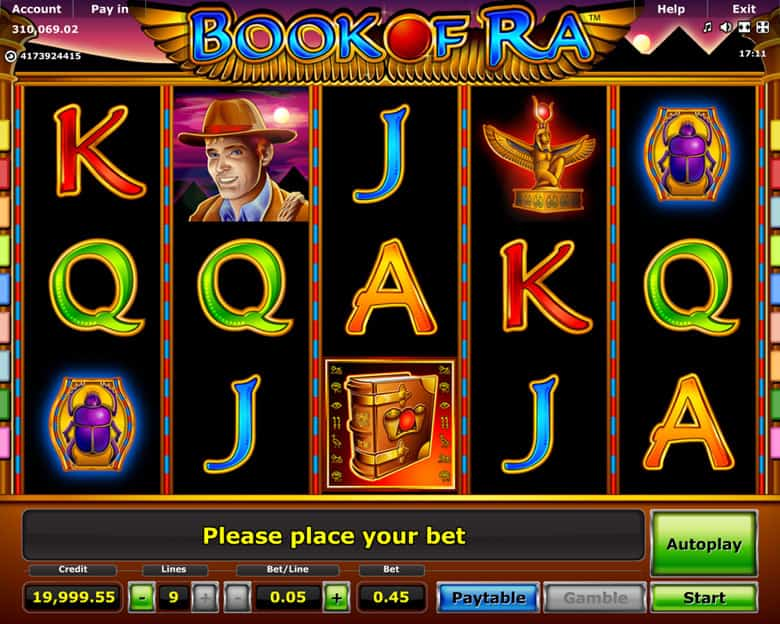 Book Of Ra Play Table